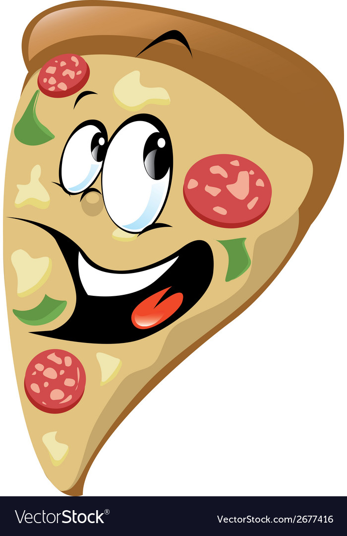 Pizza cartoon vector | Price: 1 Credit (USD $1)