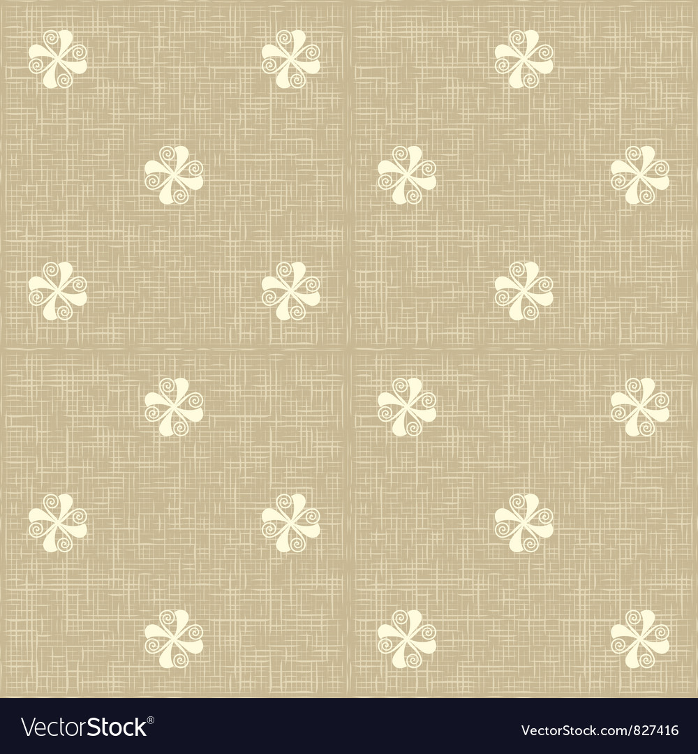 Seamless floral pattern flowers rustic texture vector | Price: 1 Credit (USD $1)
