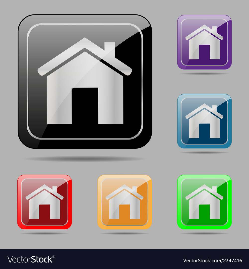 Set web buttons home vector | Price: 1 Credit (USD $1)