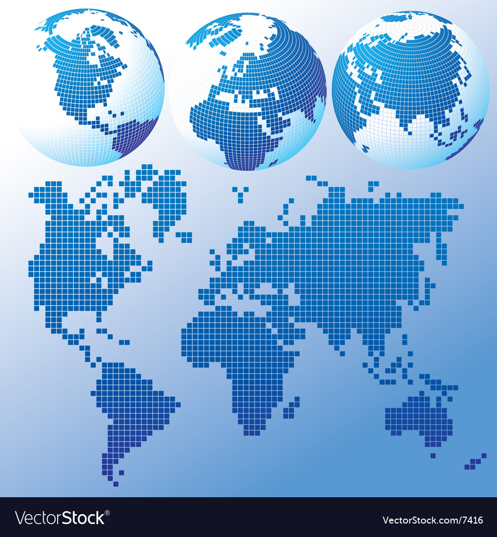World map dots vector | Price: 1 Credit (USD $1)
