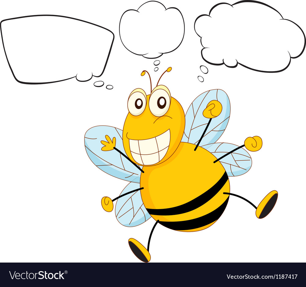 A bee with empty callouts vector   Price: 1 Credit (USD $1)