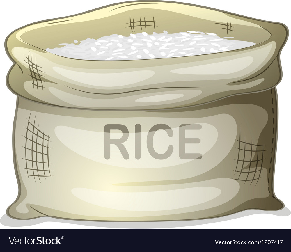 A sack of white rice vector | Price: 1 Credit (USD $1)