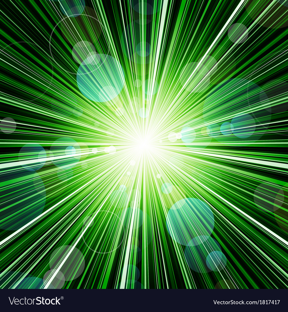 Abstract green striped burst background vector | Price: 1 Credit (USD $1)