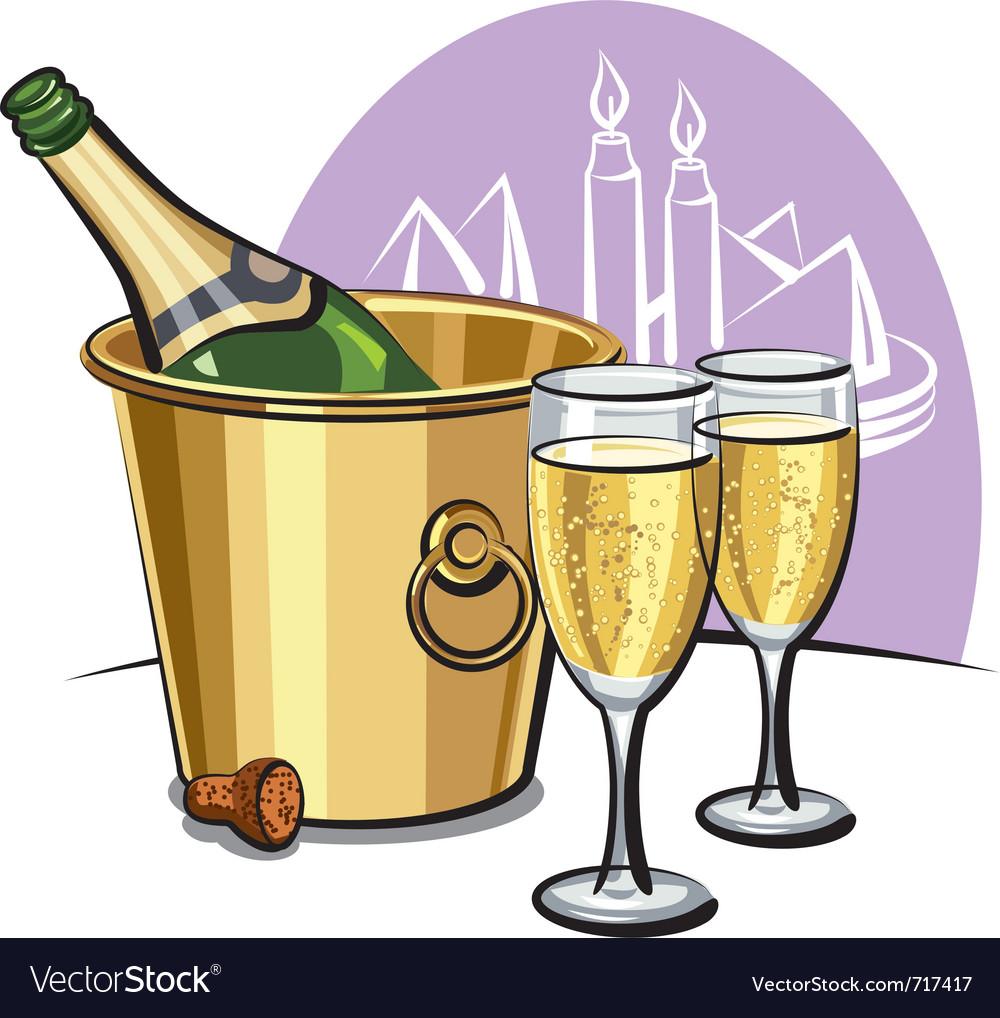 Champagne vector | Price: 3 Credit (USD $3)