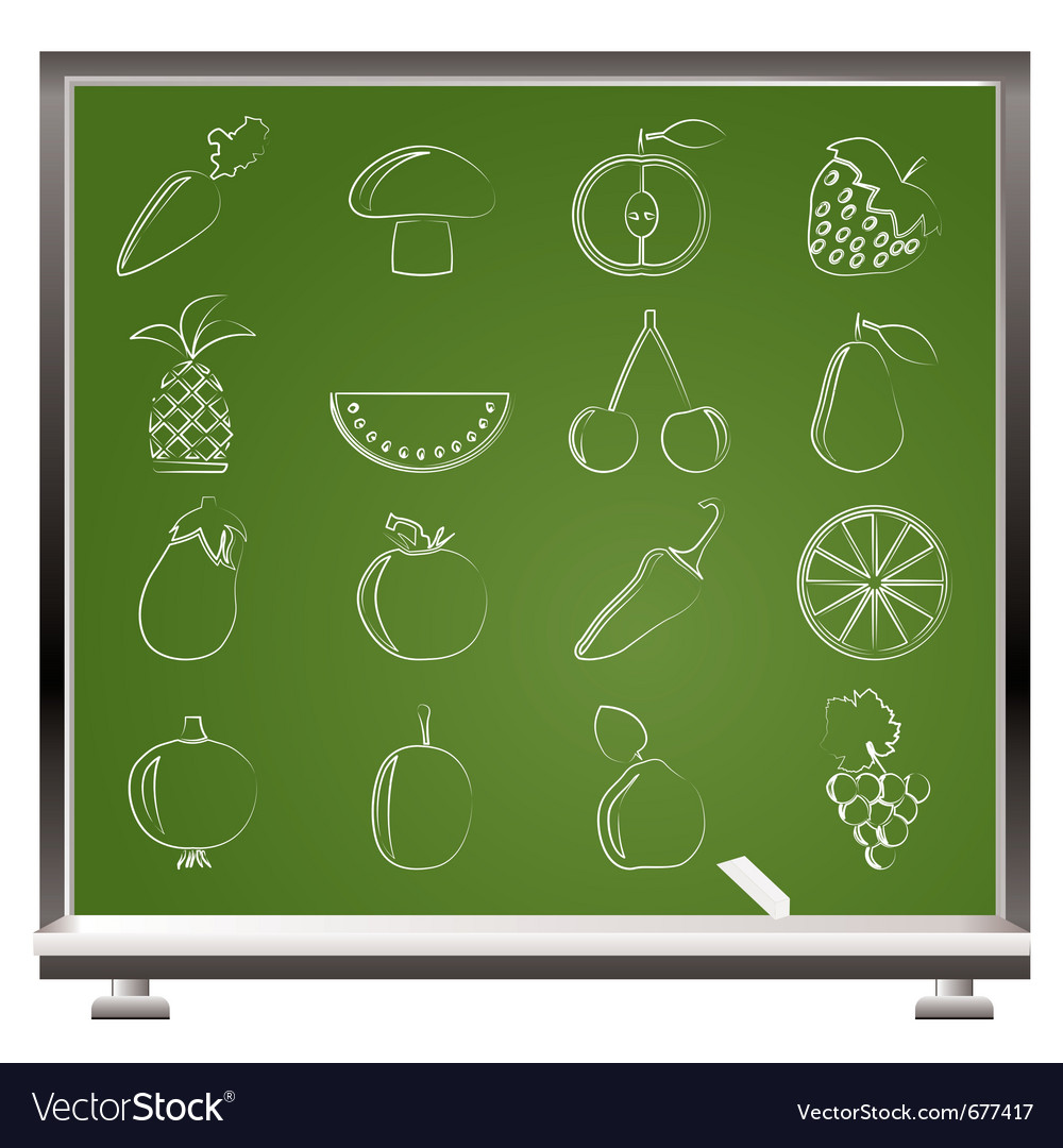 Fruits and vegetables icons vector   Price: 1 Credit (USD $1)