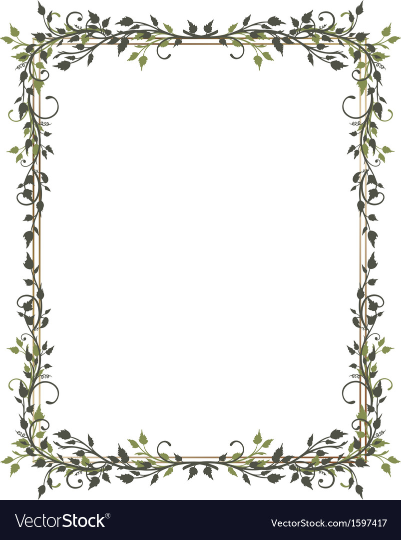 Leaves frame tendril vector | Price: 1 Credit (USD $1)