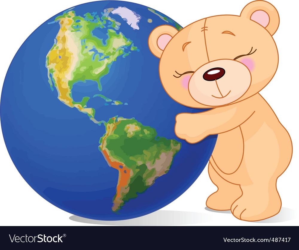 Love earth bear vector | Price: 1 Credit (USD $1)