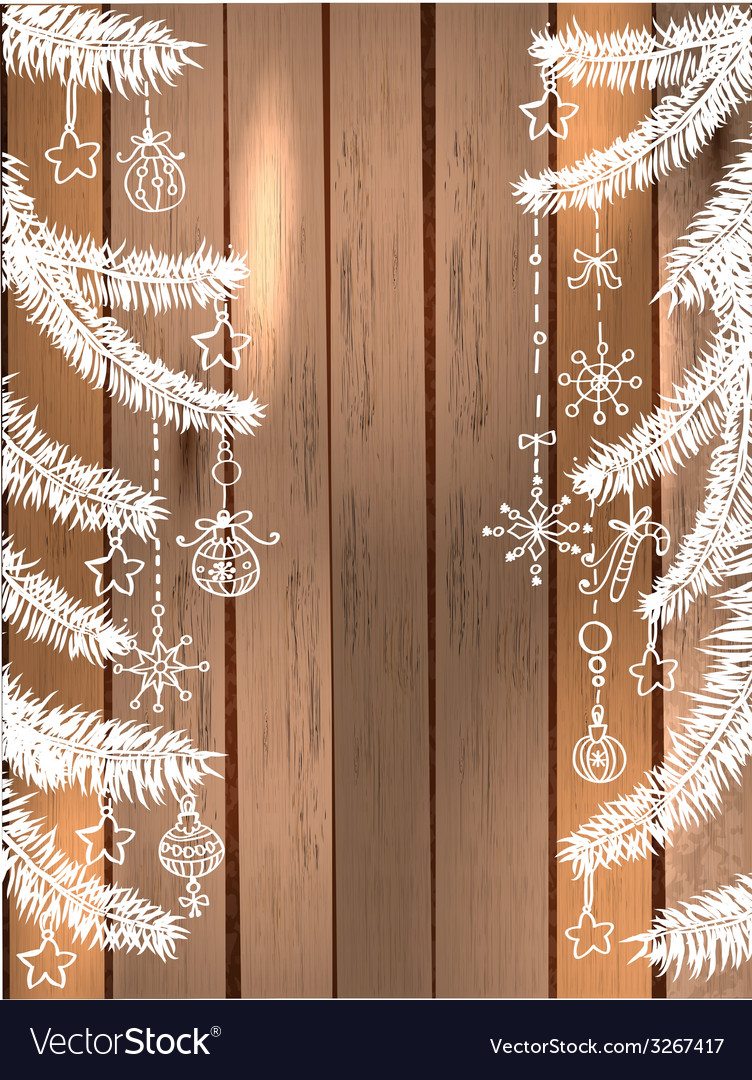 Natural decoration for beautiful holiday design vector | Price: 1 Credit (USD $1)