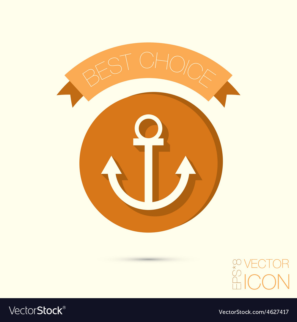 Nautical anchor anchor seafaring character icon vector   Price: 1 Credit (USD $1)