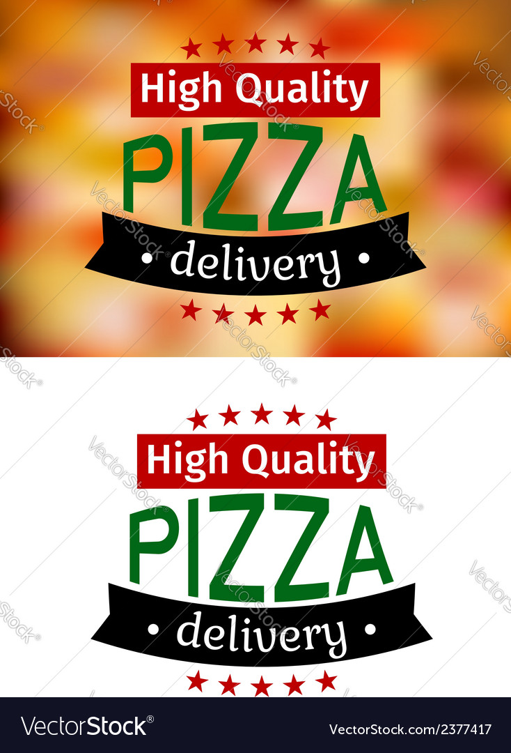 Piiza delivery banners vector | Price: 1 Credit (USD $1)