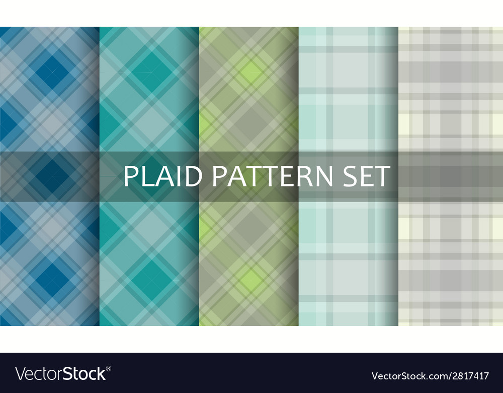 Plaid patterns set vector | Price: 1 Credit (USD $1)