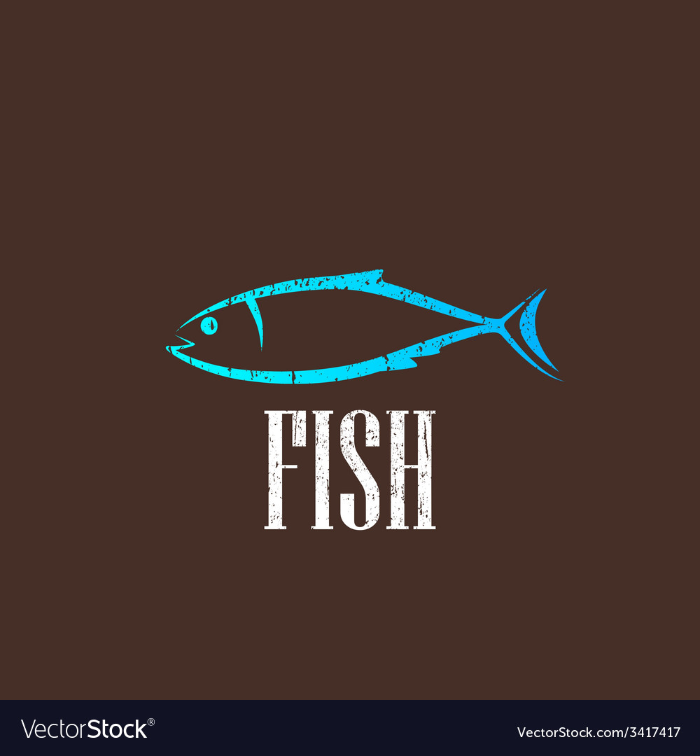 Vintage with a fish vector | Price: 1 Credit (USD $1)