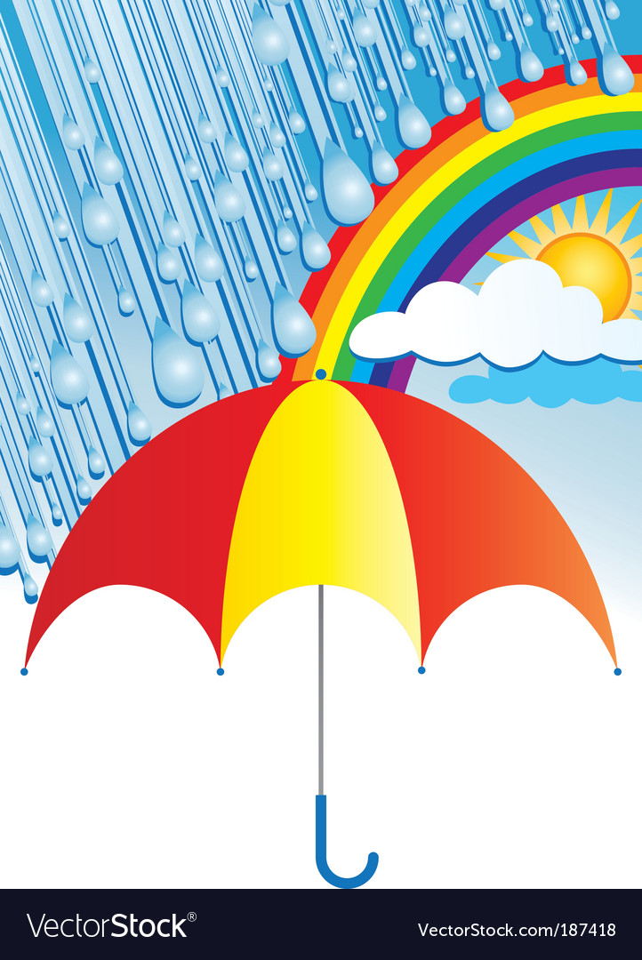 After the rain comes sun vector | Price: 1 Credit (USD $1)