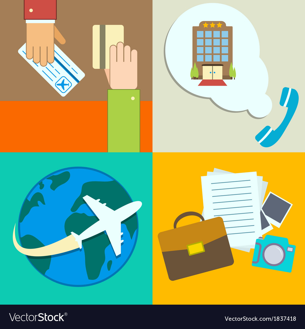 Business travel infographics icons set vector | Price: 1 Credit (USD $1)