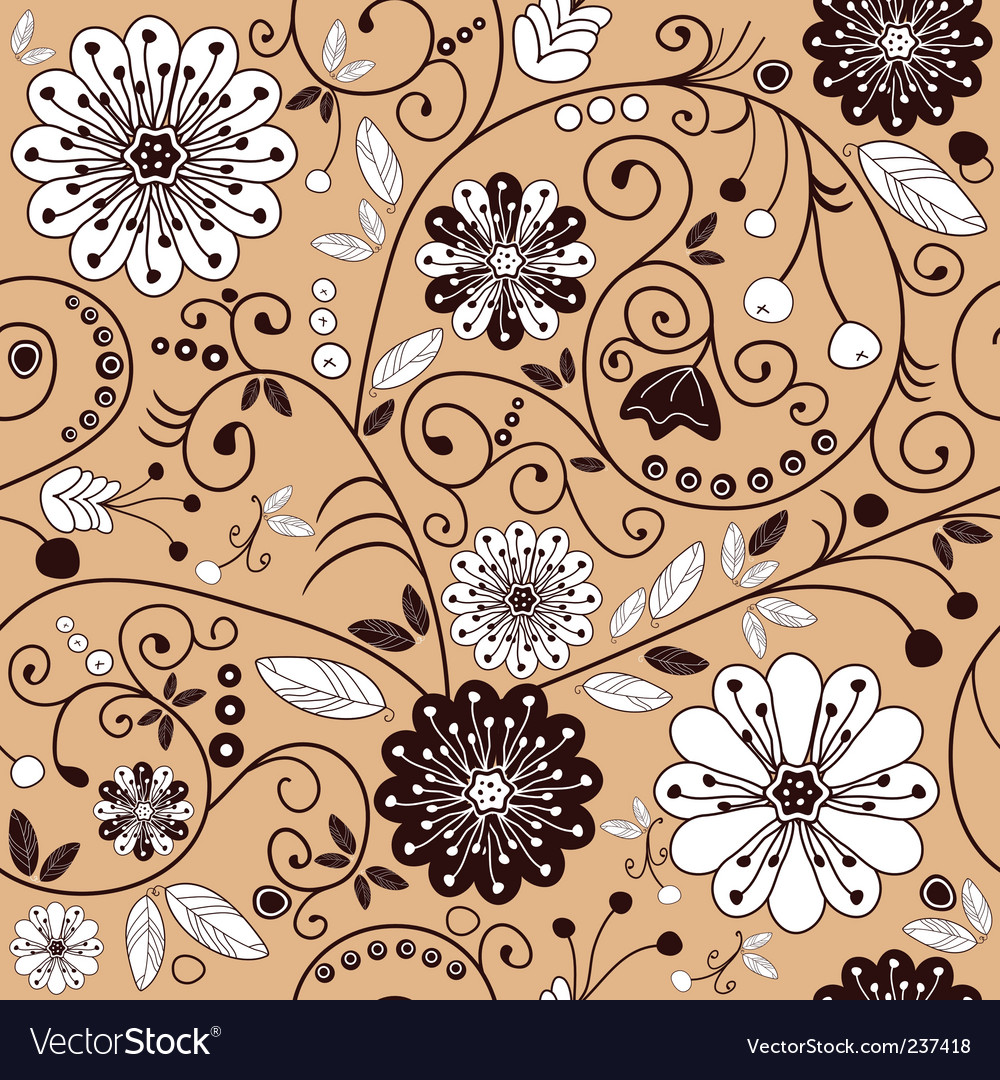 Floral pink pattern vector | Price: 1 Credit (USD $1)