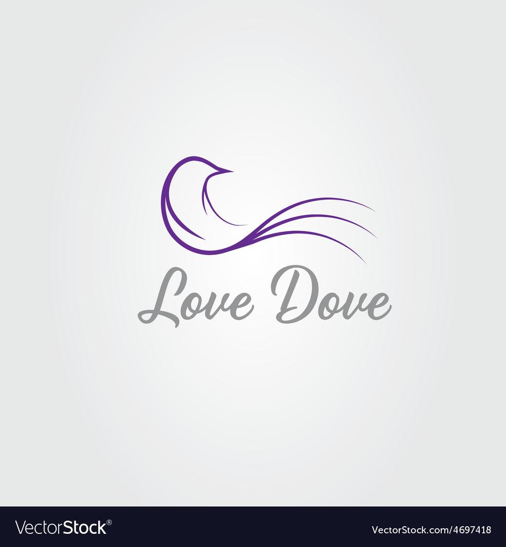 Love dove design template vector | Price: 1 Credit (USD $1)