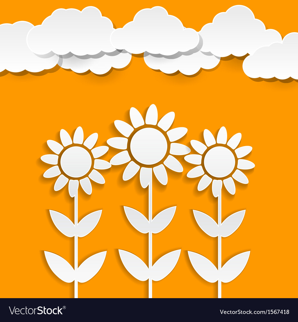 Paper sunflowers vector | Price: 1 Credit (USD $1)