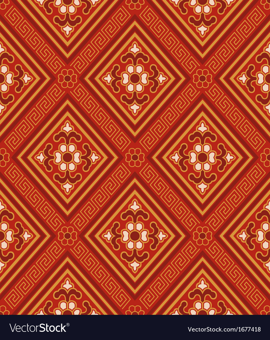 Seamless chinese traditional pattern vector | Price: 1 Credit (USD $1)