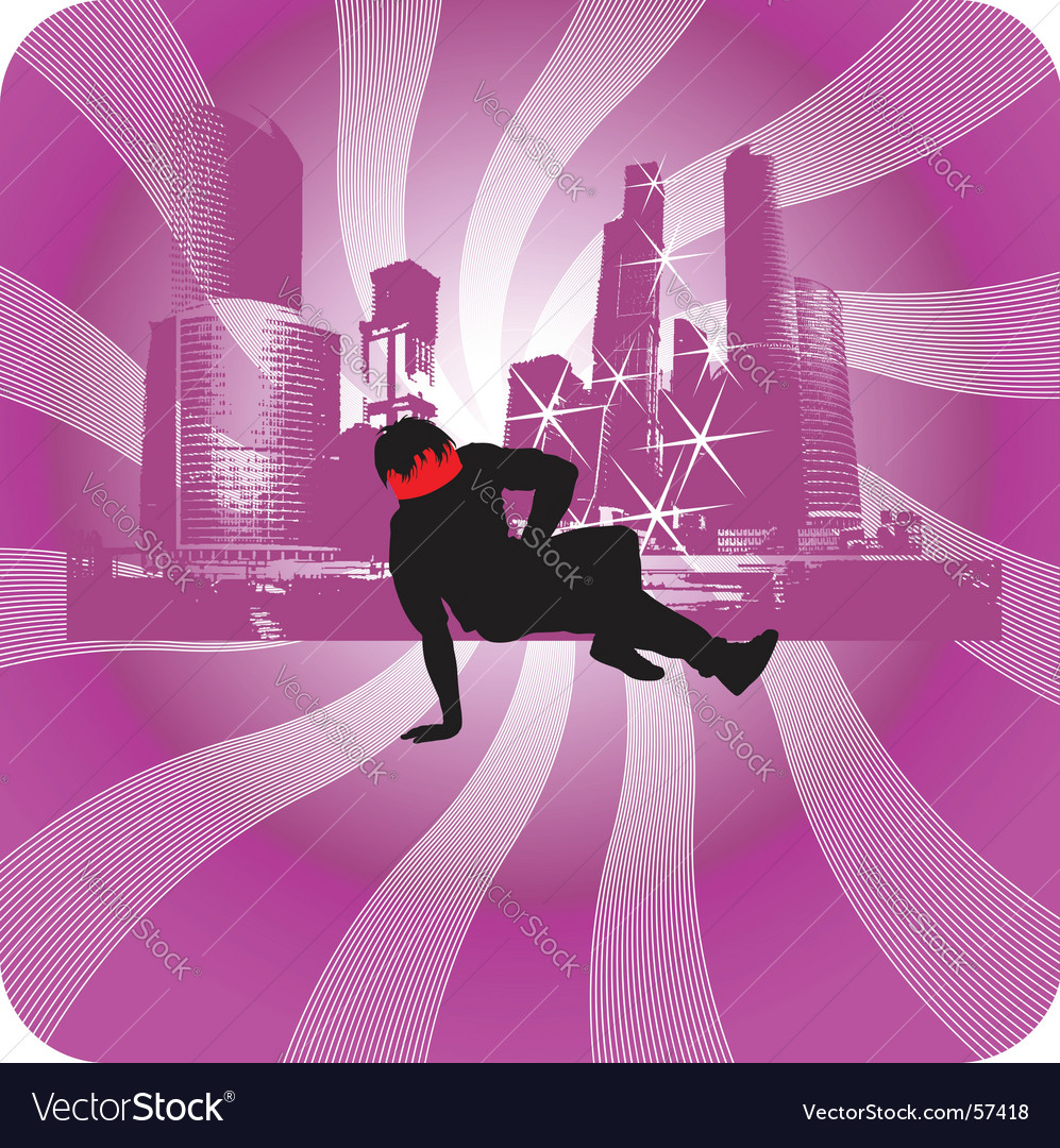 Urban background break dancer vector | Price: 1 Credit (USD $1)