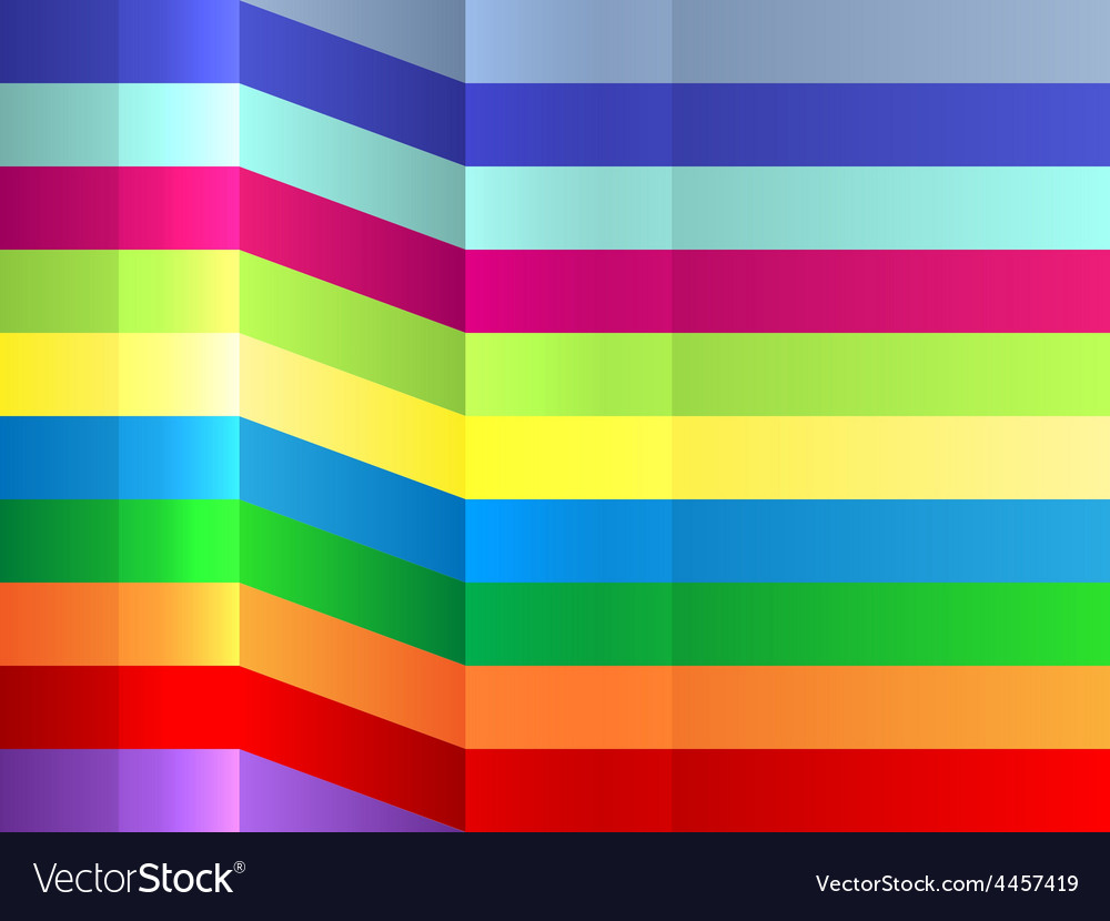 Colorful bending stripes background vector | Price: 1 Credit (USD $1)
