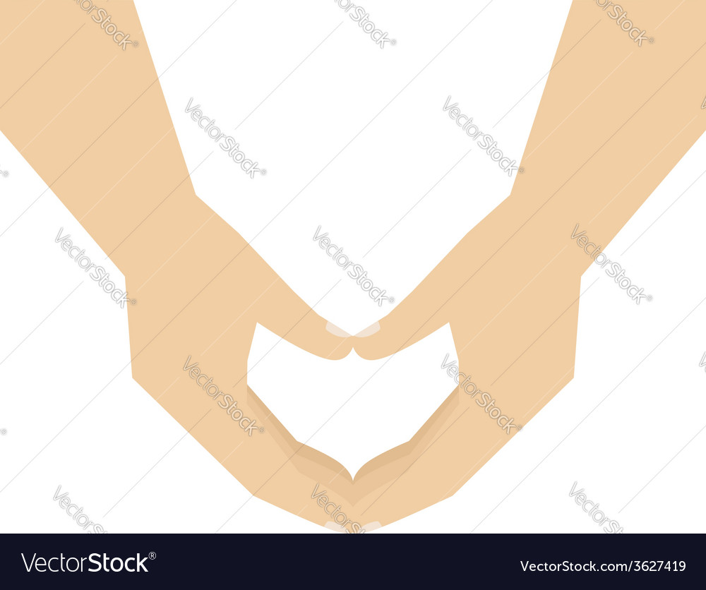 Hands showing heart vector | Price: 1 Credit (USD $1)