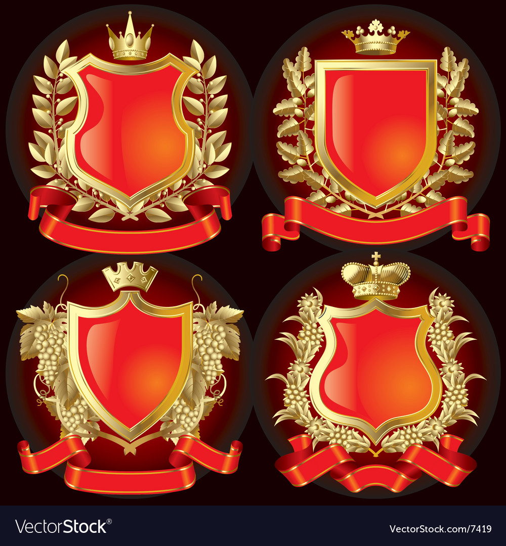 Heraldic symbols vector | Price: 5 Credit (USD $5)