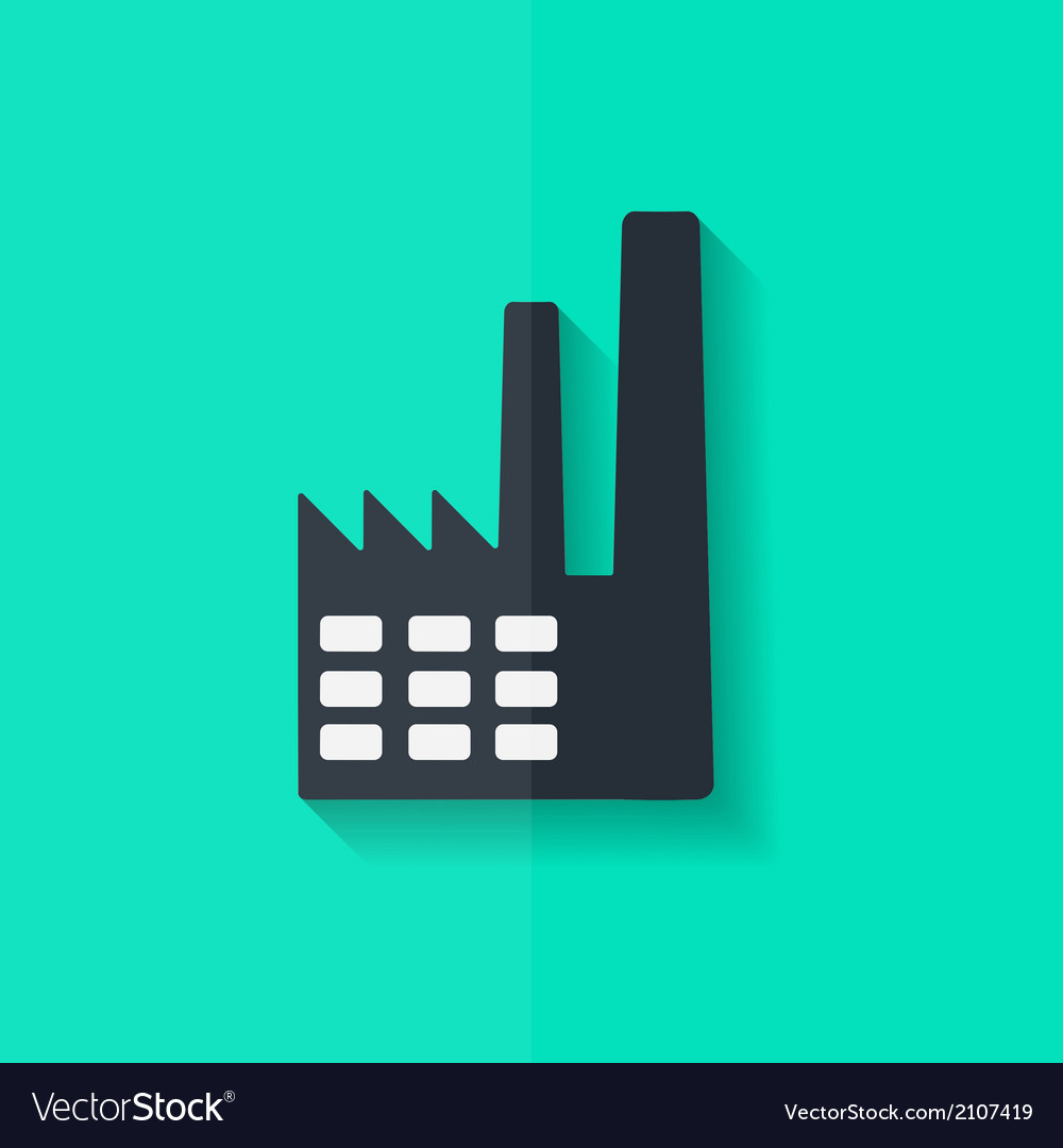 Power station icon flat design vector | Price: 1 Credit (USD $1)