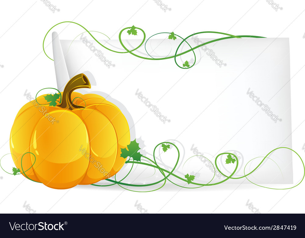 Pumpkin and sheet of paper vector   Price: 1 Credit (USD $1)