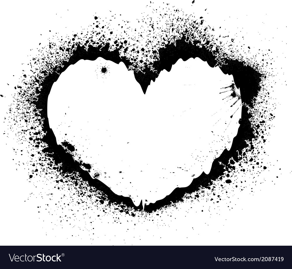 Splash heart vector | Price: 1 Credit (USD $1)