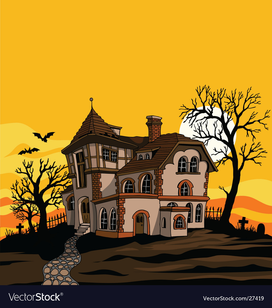 Spooky house vector | Price: 3 Credit (USD $3)