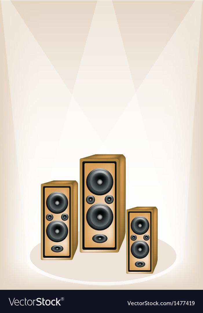 Three audio speaker background vector | Price: 1 Credit (USD $1)