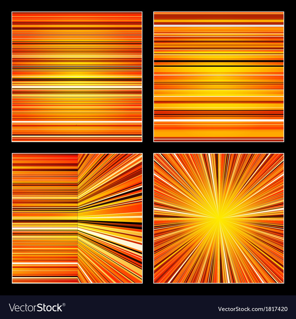 Abstract striped orange colorful backgrounds set vector | Price: 1 Credit (USD $1)