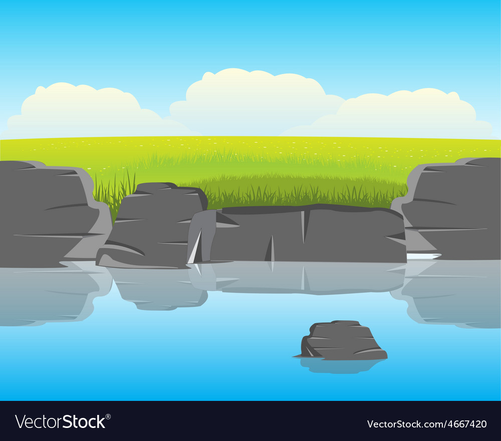 Coast calm yard vector | Price: 1 Credit (USD $1)
