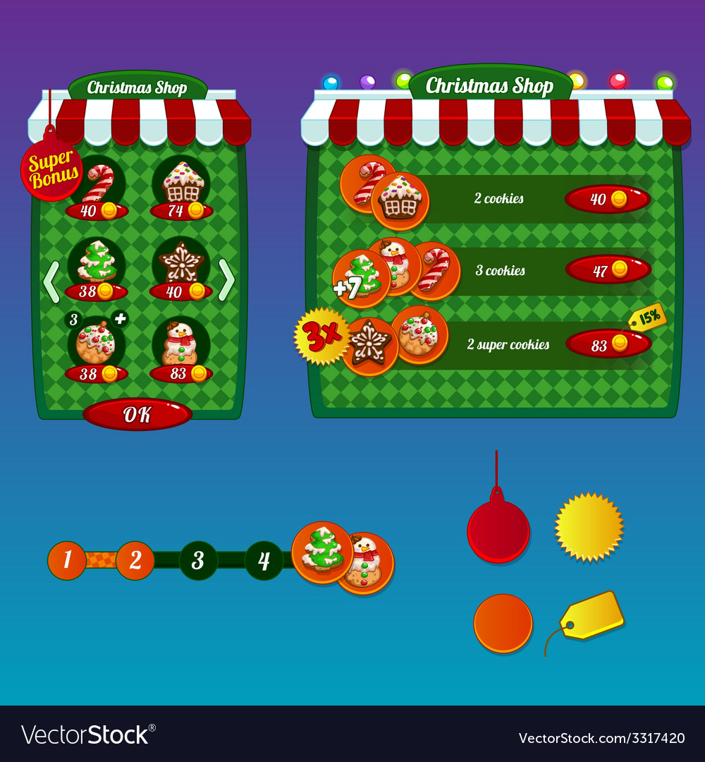 The design elements of the game interface vector   Price: 1 Credit (USD $1)