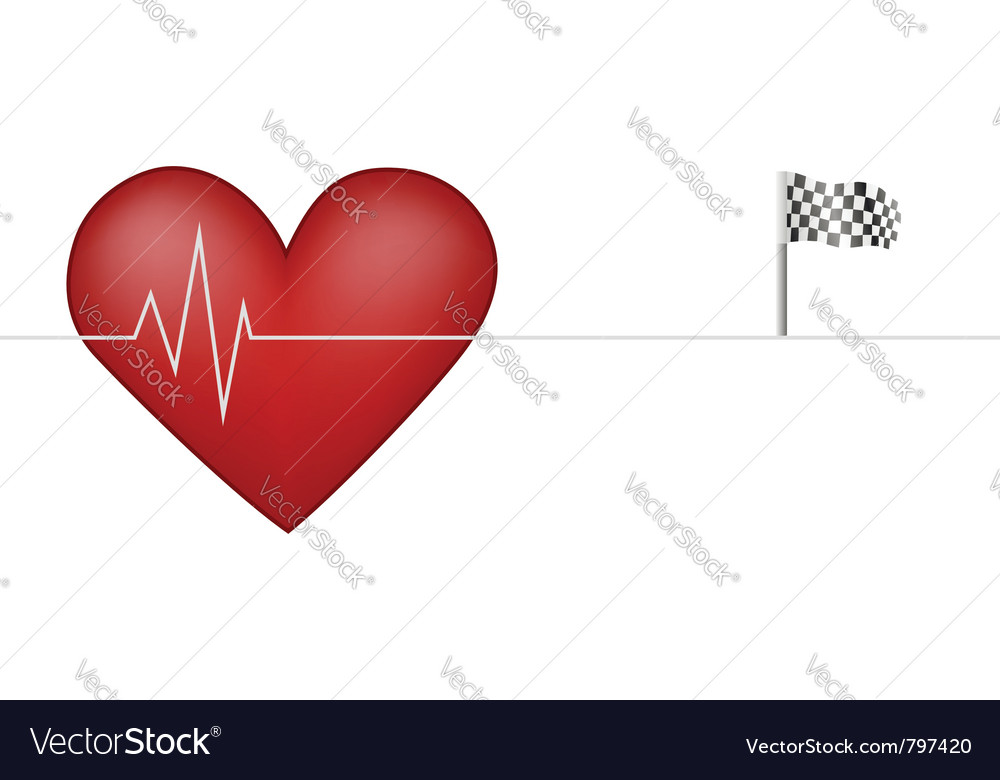 Heart pulsing vector | Price: 1 Credit (USD $1)