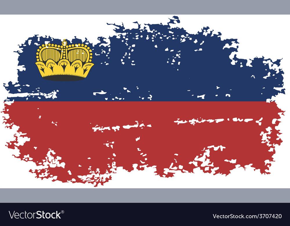 Liechtenstein grunge flag vector | Price: 1 Credit (USD $1)