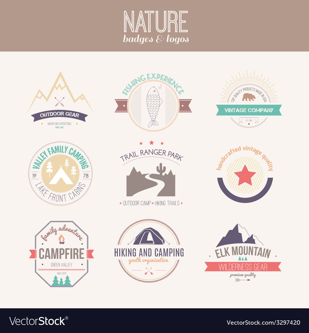 Nature logo collection vector | Price: 1 Credit (USD $1)