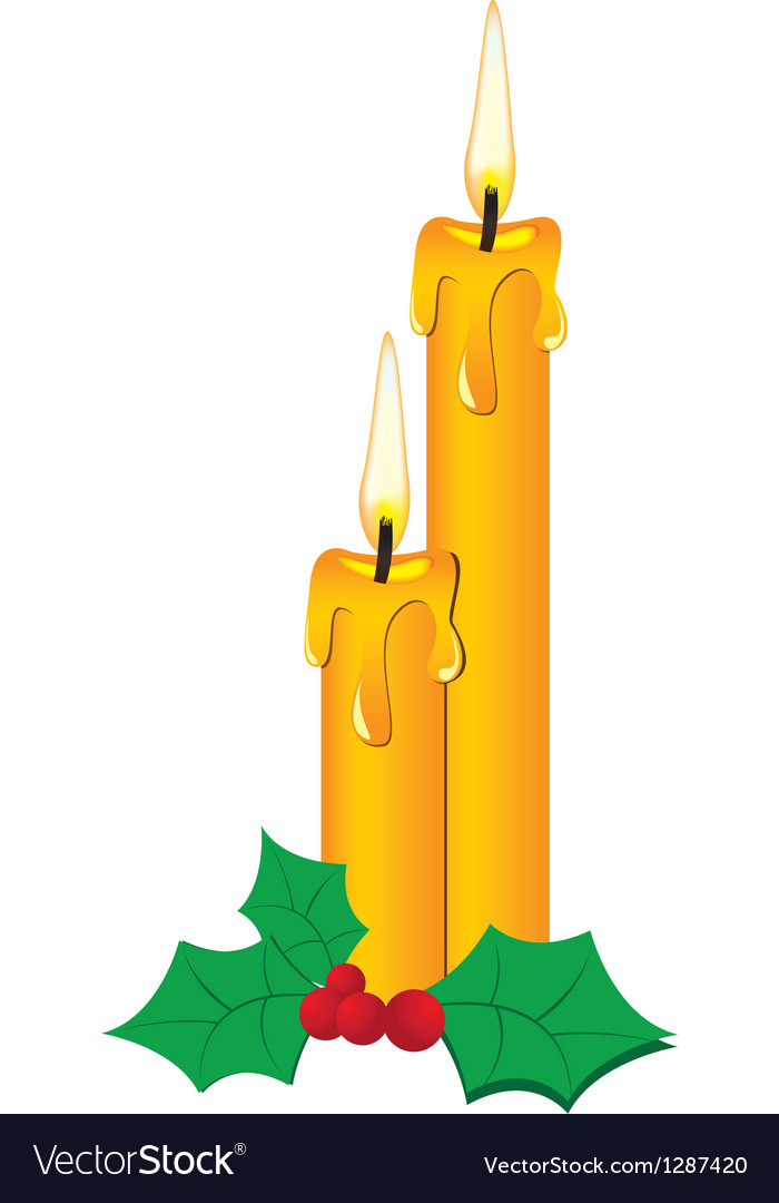 Pair of candle vector | Price: 1 Credit (USD $1)