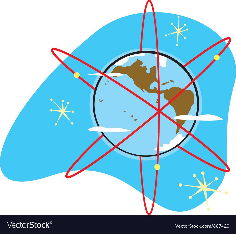 Radio earth vector | Price: 1 Credit (USD $1)