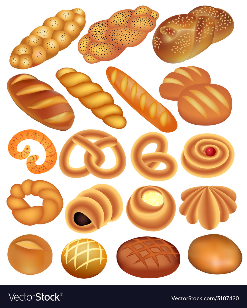 Set of bread wheat vector | Price: 1 Credit (USD $1)