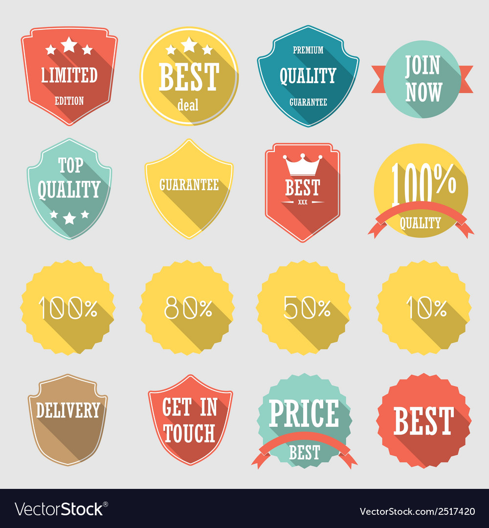 Set of stickers vector | Price: 1 Credit (USD $1)