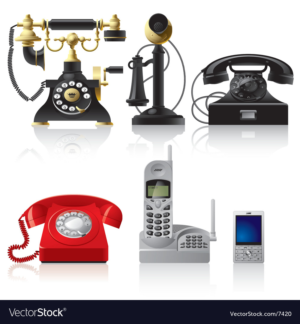 Telephone sets vector | Price: 5 Credit (USD $5)