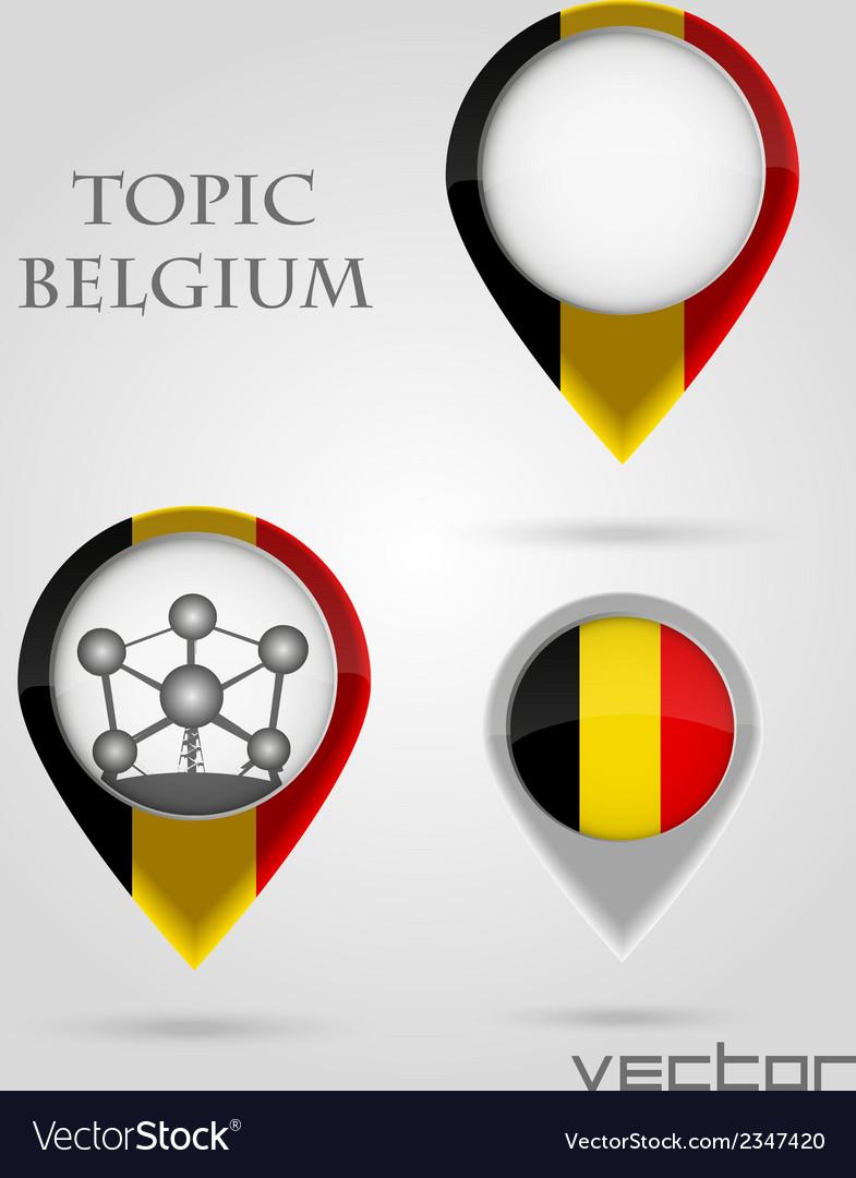 Topic belgium map marker vector   Price: 1 Credit (USD $1)