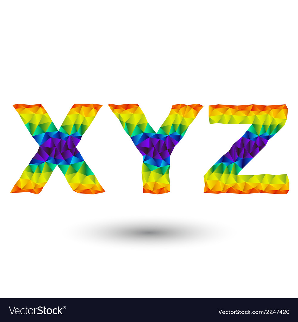Triangular letters xyz vector | Price: 1 Credit (USD $1)