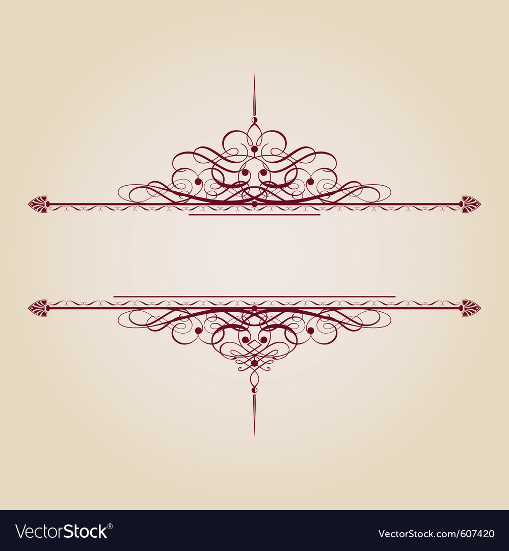 Vintage decorative text banner vector | Price: 1 Credit (USD $1)