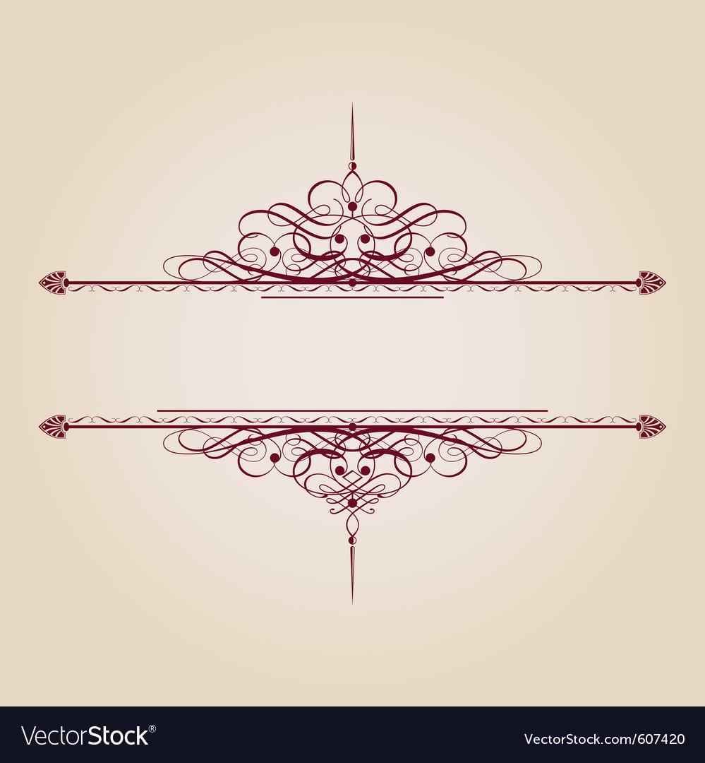 Vintage decorative text banner vector | Price: 1 Credit (USD $1)