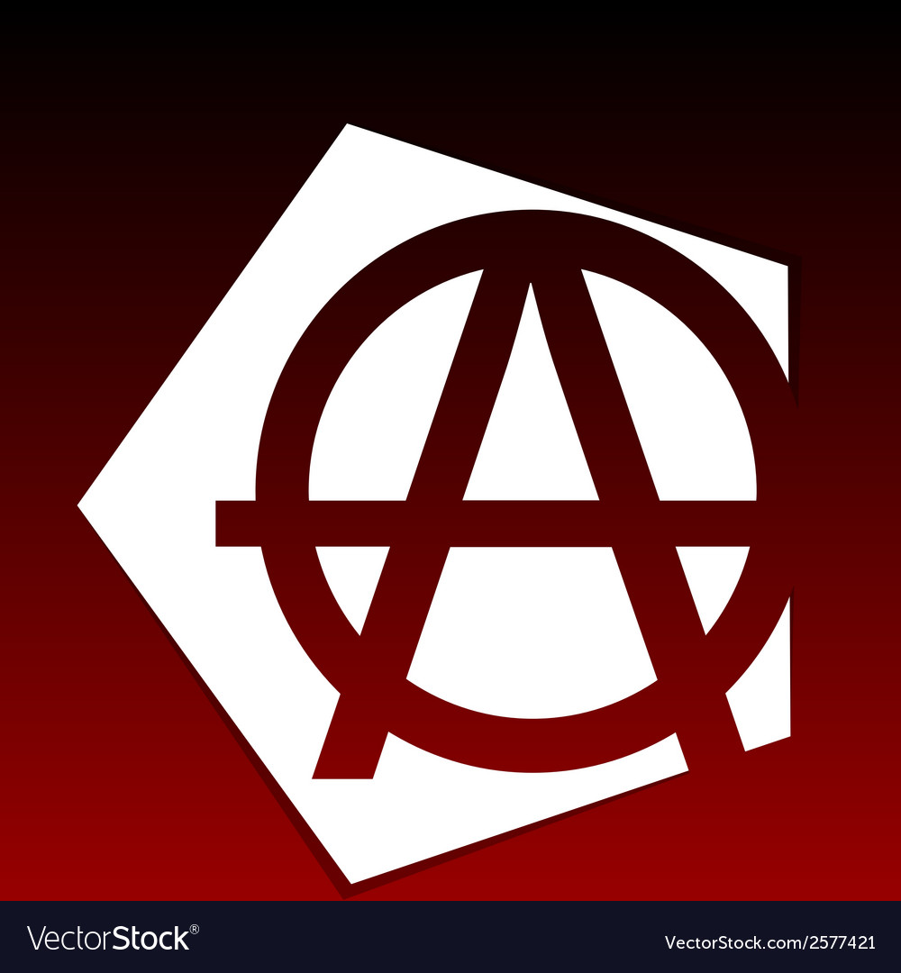 Anarchy symbol vector | Price: 1 Credit (USD $1)