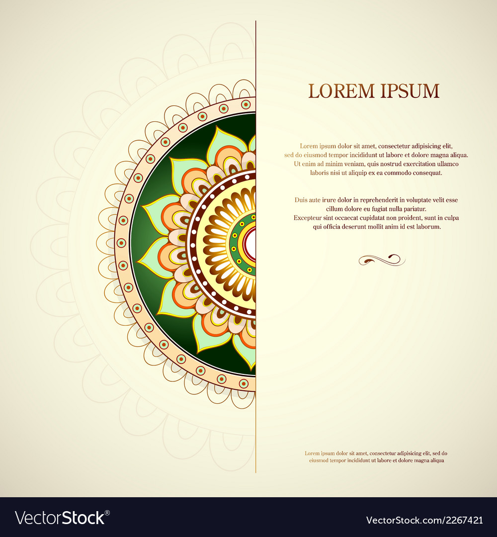 Invitation card with copy space vector | Price: 1 Credit (USD $1)