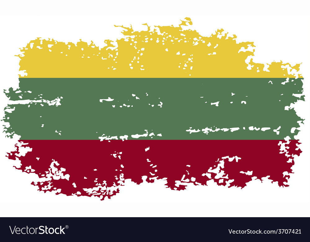Lithuanian grunge flag vector   Price: 1 Credit (USD $1)
