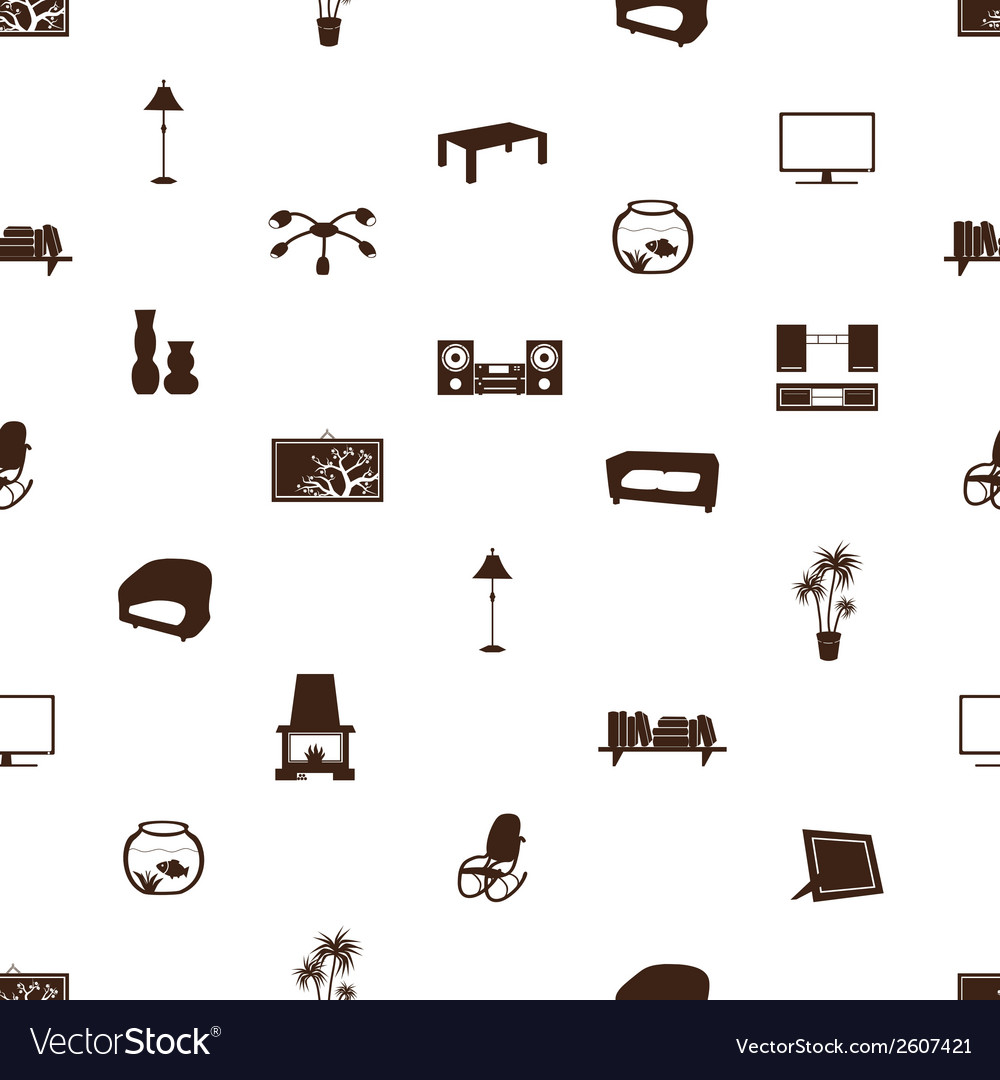 Living room pattern eps10 vector | Price: 1 Credit (USD $1)